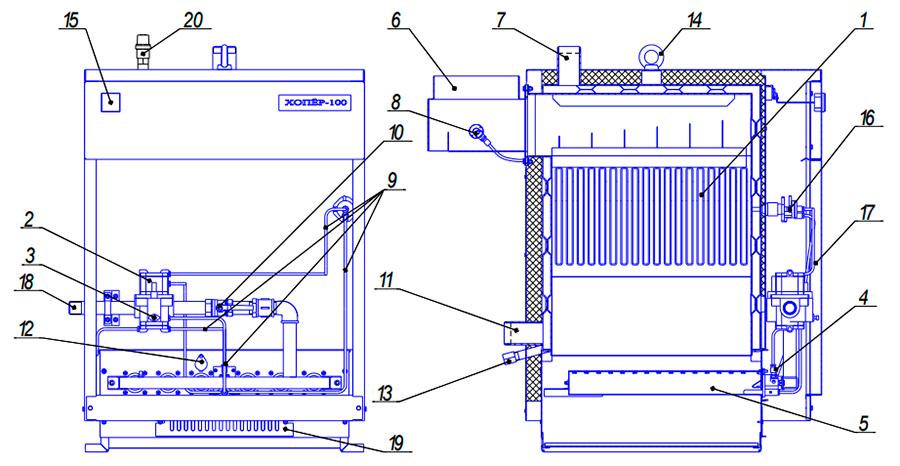 Порядок разборки и сборки теплообменника котла хопер 100 a теплообменник с тэном расчет